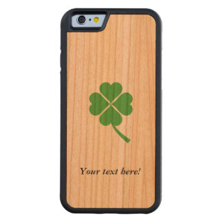 Four-leaf clover carved cherry iPhone 6 bumper case