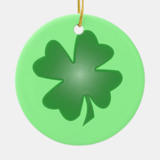 Four Leaf Clover Ceramic Ornament
