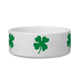 Four Leaf Clover Ceramic Pet Food Bowl