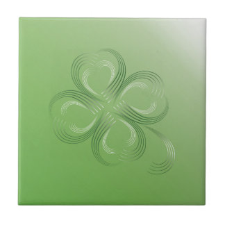 Four Leaf Clover Ceramic Tile