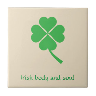 Four-leaf clover ceramic tile