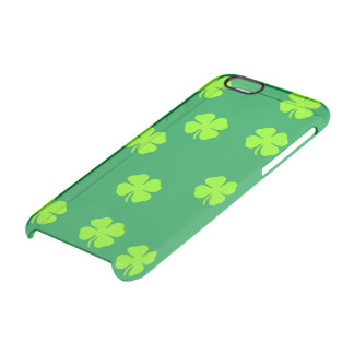 Four leaf clover clear iPhone 6/6S case