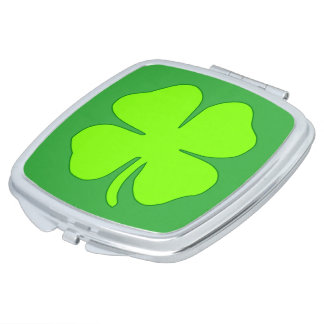 Four leaf clover compact mirrors