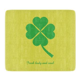 Four-leaf clover cutting board