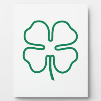 Four Leaf Clover Display Plaques
