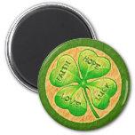 Four Leaf Clover - Faith Hope Love Luck Magnet