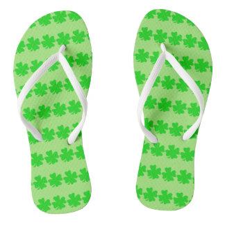 Four Leaf Clover Flip Flops by Julie Everhart