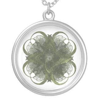 Four Leaf Clover Fractal Art Necklace