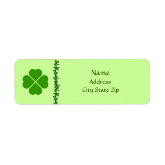 Four Leaf Clover Irish Address Labels