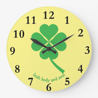 Four-leaf clover large clock