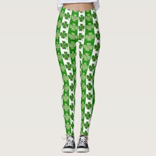 ab5fbc7b51e316 Women's Green Clover Leggings & Tights | Zazzle AU