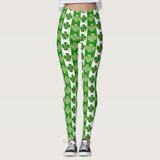 Four leaf clover leggings