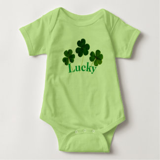Four Leaf Clover Lucky baby bodysuit