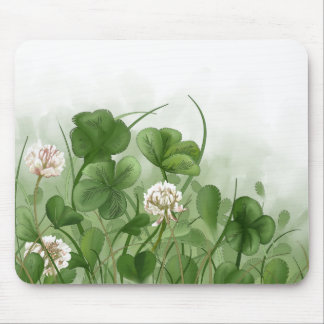 Four Leaf Clover Mouse Pad