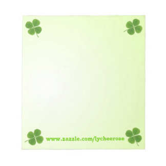 four leaf clover notepad