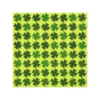 Four Leaf Clover Pattern Canvas Prints