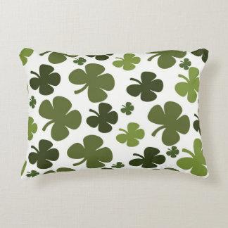 Four Leaf Clover Pattern Decorative Cushion