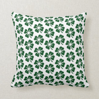 Four Leaf Clover Pattern Throw Pillow