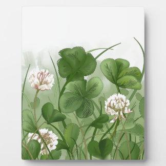 Four Leaf Clover Photo Plaques