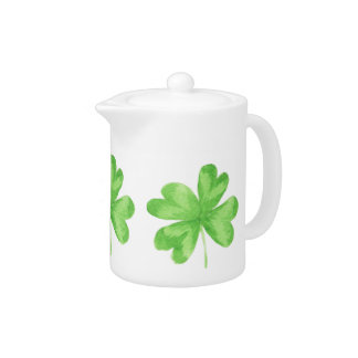 Four Leaf Clover Porcelain Teapot