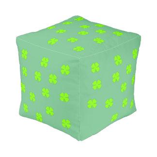 Four leaf clover pouf