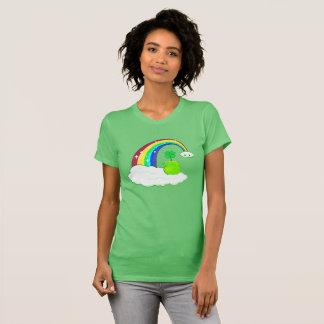 Four leaf clover, rainbow, kawaii cloud T-Shirt