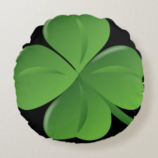 Four leaf clover reversible pillow