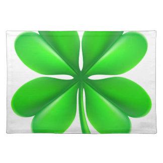 Four Leaf Clover Shamrock Placemat