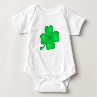 Four-leaf clover sheet baby bodysuit