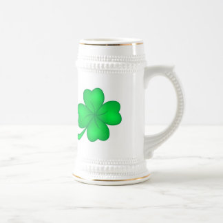 Four-leaf clover sheet beer stein