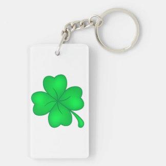 Four-leaf clover sheet key ring