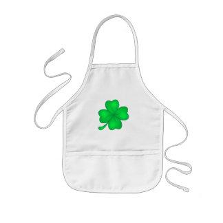Four-leaf clover sheet kids apron