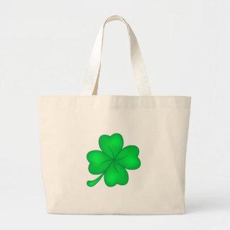 Four-leaf clover sheet large tote bag