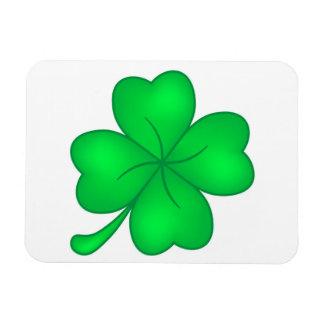 Four-leaf clover sheet magnet