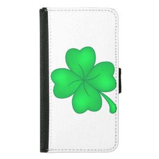 Four-leaf clover sheet samsung galaxy s5 wallet case