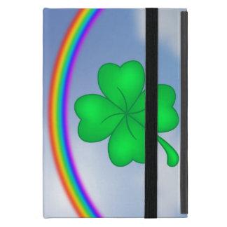 Four-leaf clover sheet with rainbow iPad mini case