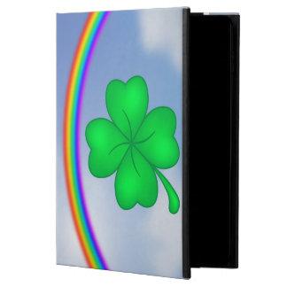 Four-leaf clover sheet with rainbow powis iPad air 2 case