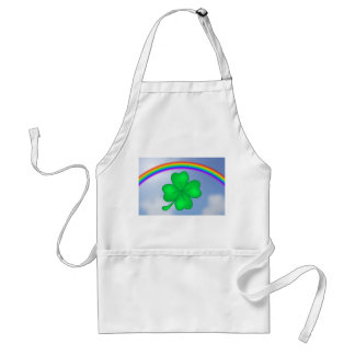 Four-leaf clover sheet with rainbow standard apron