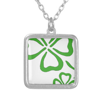 Four-Leaf-Clover Silver Plated Necklace