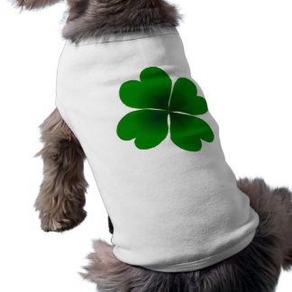 four-leaf clover sleeveless dog shirt