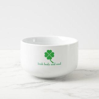 Four-leaf clover soup mug