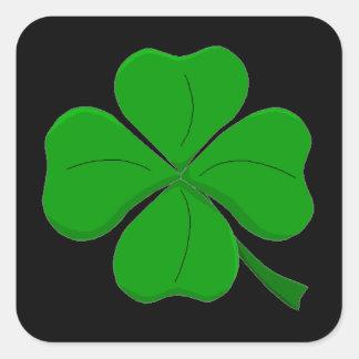 """""""Four Leaf Clover"""" Square Sticker"""