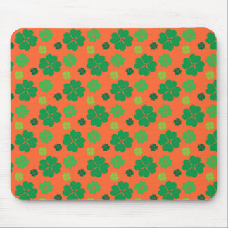Four Leaf Clover St Paddys Day Green Mouse Pads