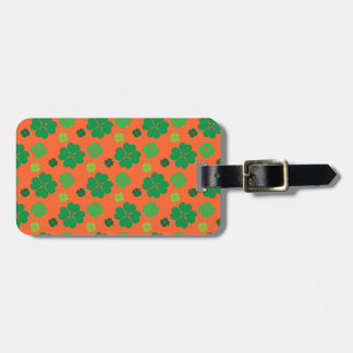 Four Leaf Clover St Paddys Day Green Tag For Bags