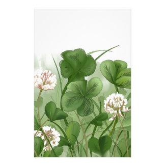 Four Leaf Clover Stationery