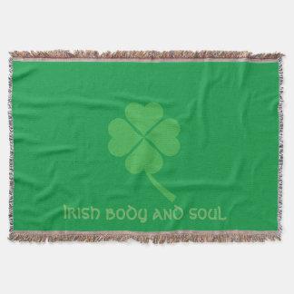 Four-leaf clover throw blanket