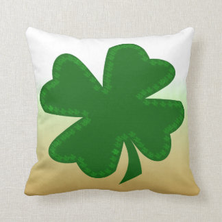 Four Leaf Clover Throw Pillow