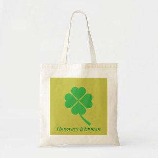 Four-leaf clover tote bag