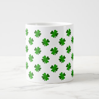 Four leaf clovers in green fade jumbo mug