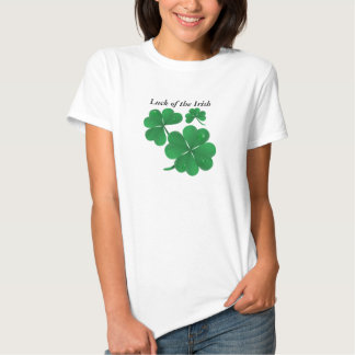 Four leaf clovers, Luck of the Irish T Shirt